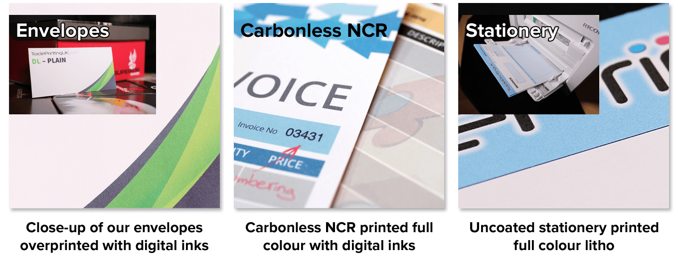 Colour variation between digital and litho printing processes.